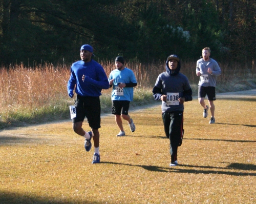 RBI players (foreground) joined the runners in the most recent Run for RBI.
