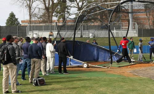 A record number of scouts and college coaches attended the 2014 MS RBI showcase.